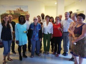 Bénévoles réunis lors de l'AG du 22 Juin